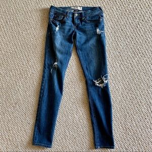 Hollister distressed skinny jeans